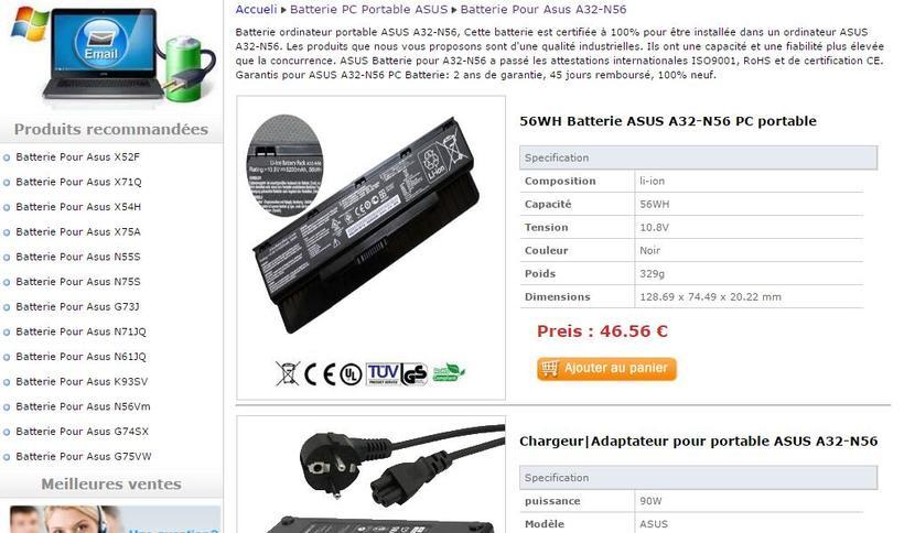 Batterie ordinateur portable Dell Precision M6300 0