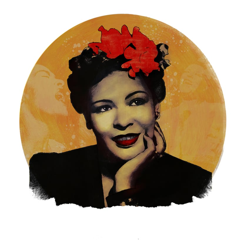 Mi Proyecto del curso: Retrato de Billie Holiday -1