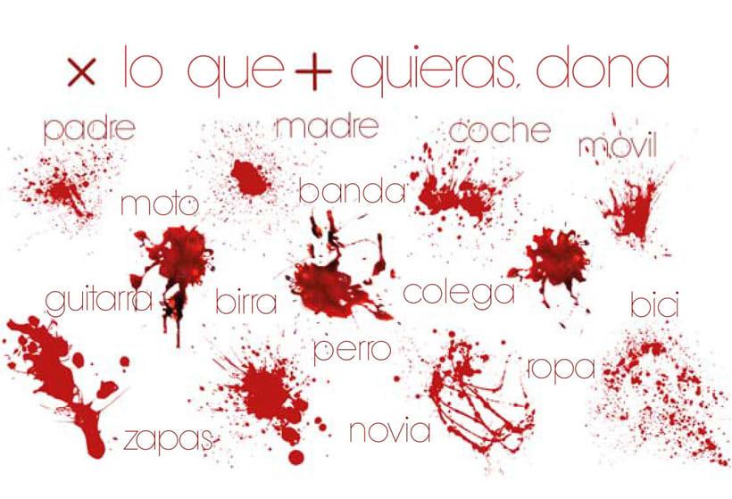 Tarjetas donante sangre 0