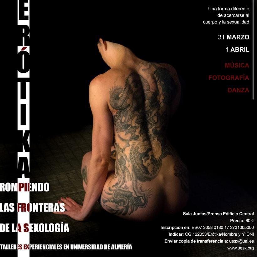 Cartel de Taller de Sexología impartido por la universidad de Almería. 0