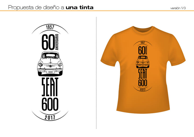 Camisetas 60 aniversario SEAT 600 0