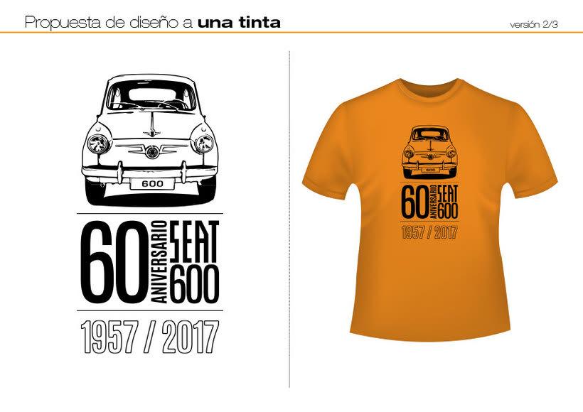 Camisetas 60 aniversario SEAT 600 1