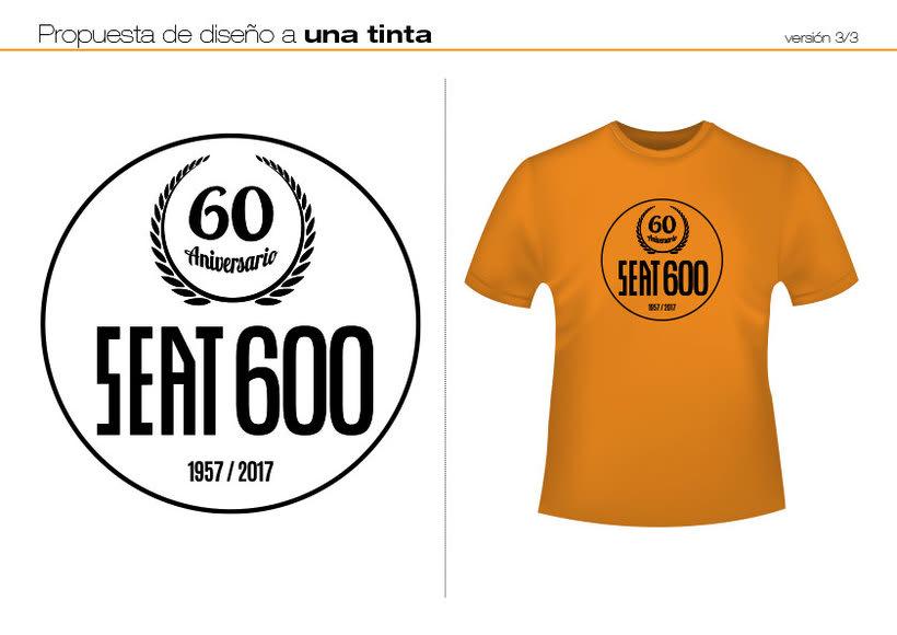 Camisetas 60 aniversario SEAT 600 2