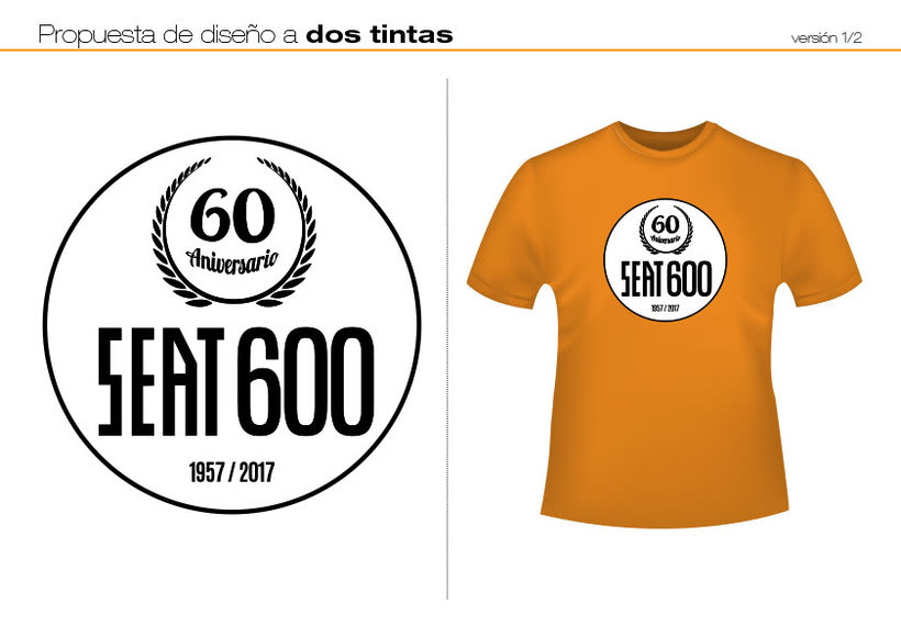Camisetas 60 aniversario SEAT 600 3