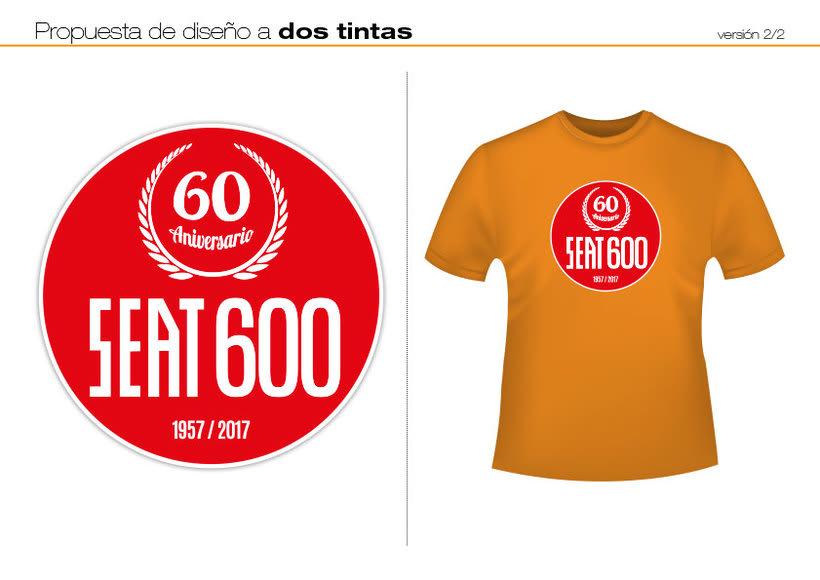 Camisetas 60 aniversario SEAT 600 4