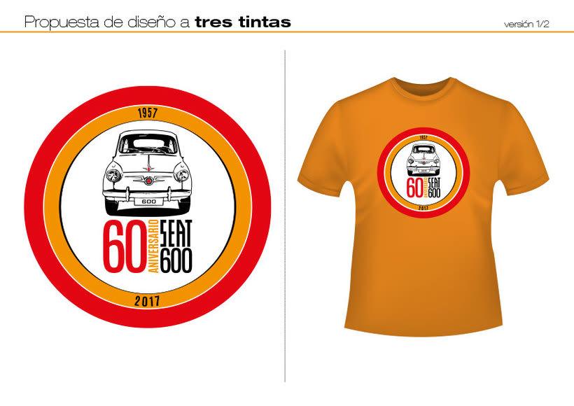 Camisetas 60 aniversario SEAT 600 5