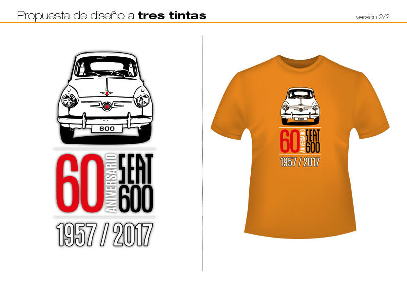 Camisetas 60 aniversario SEAT 600 6