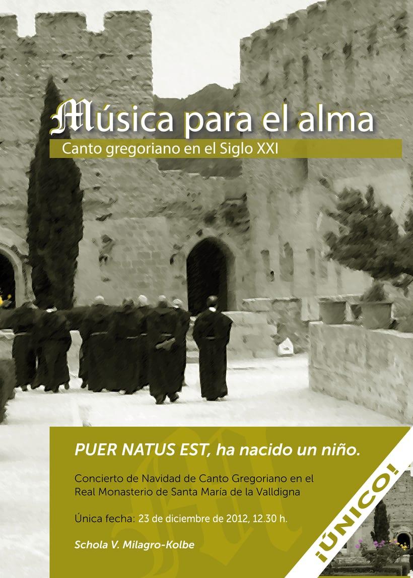 """Carátula y cartel """"Música para el alma"""" -1"""