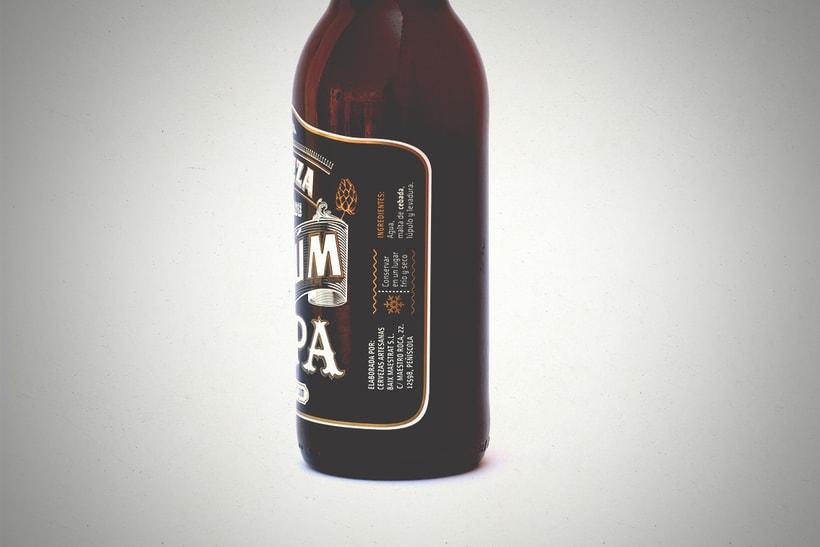 Cerveza Artesanal Badum  ( IPA ) 4