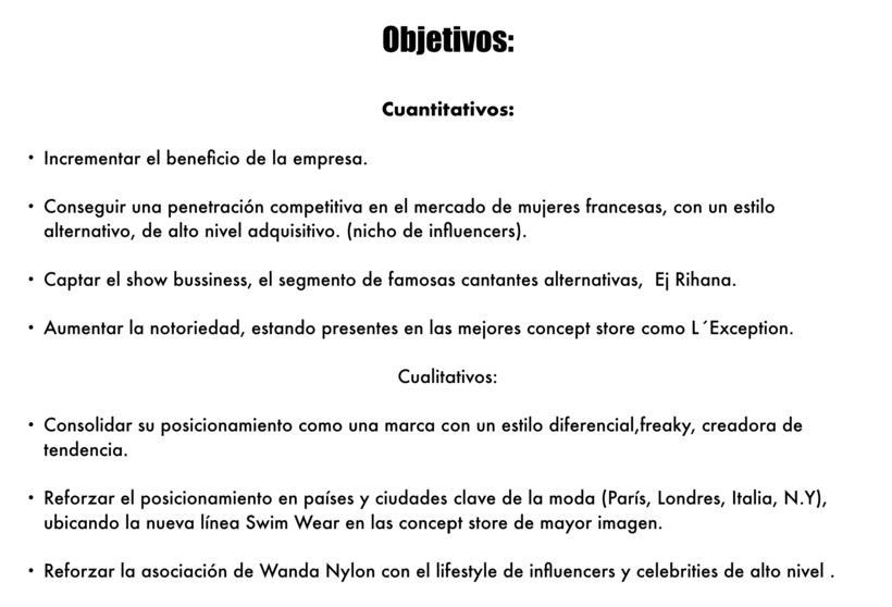 Plan de Marketing Wanda Nylon  4
