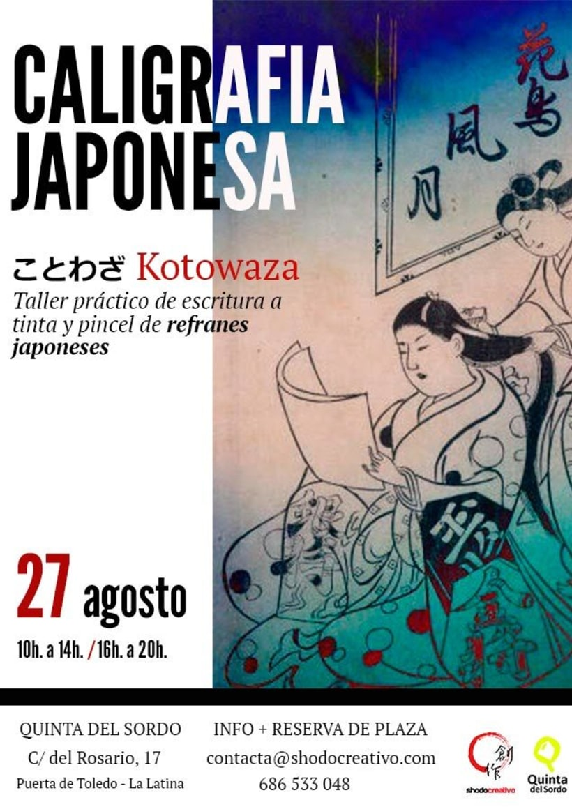 Taller de caligrafía japonesa en Madrid 1
