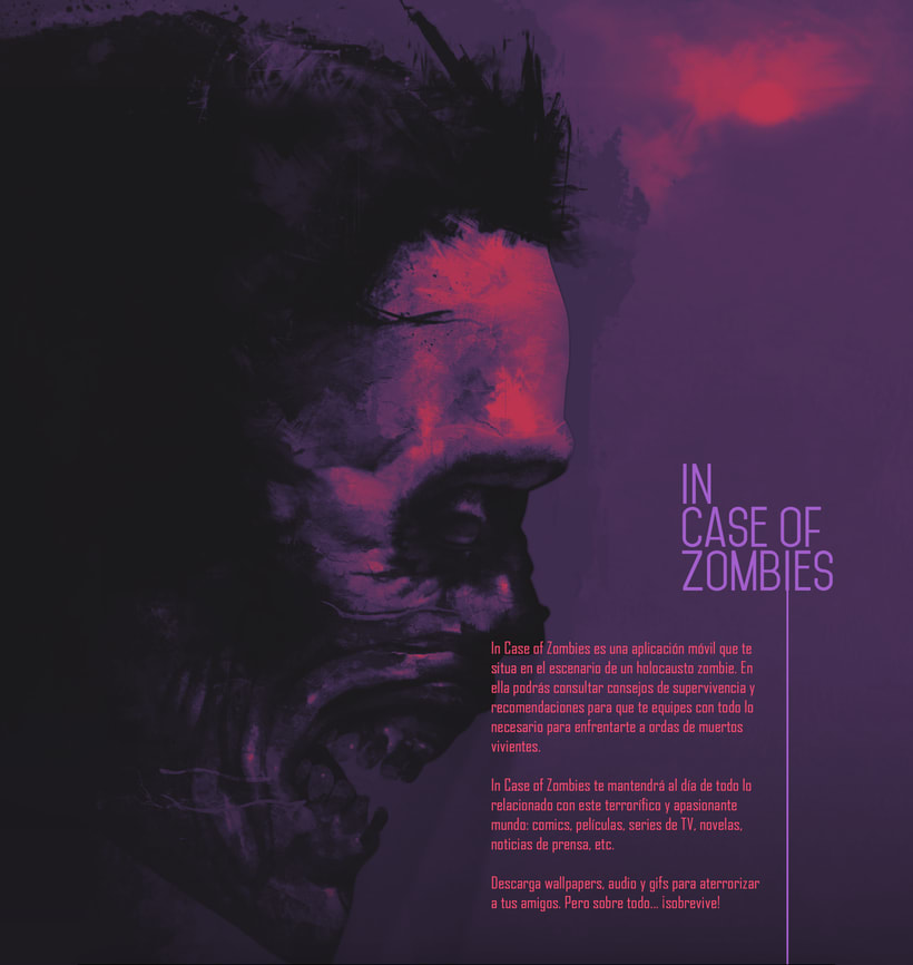 In Case of Zombies. Arte final para mobile app -1