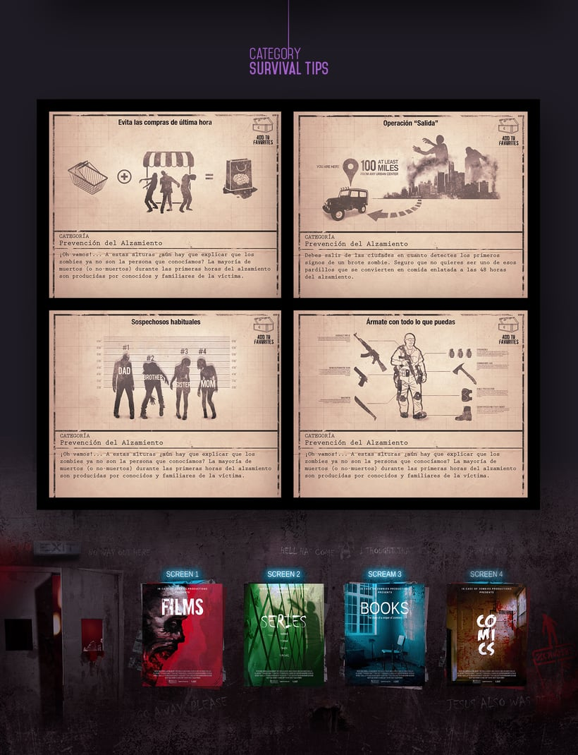 In Case of Zombies. Arte final para mobile app 4