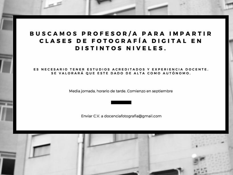 Buscamos profesor/a de fotografía 0