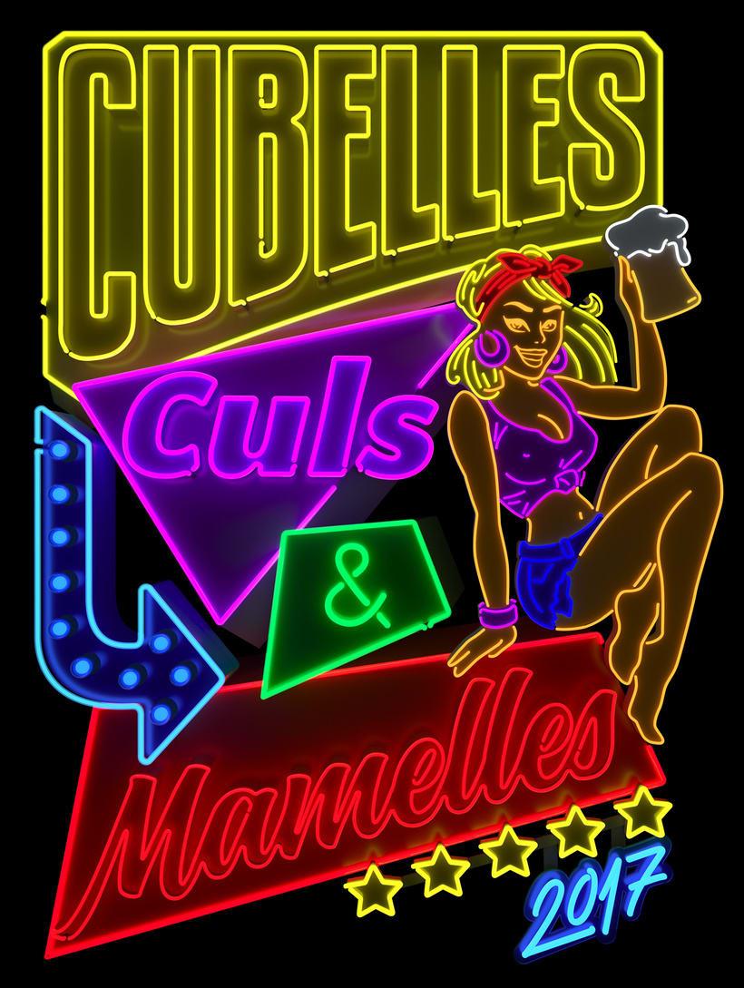 Cubelles - Neon sign 0