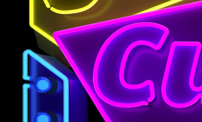Cubelles - Neon sign 3