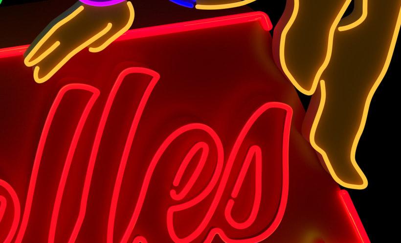 Cubelles - Neon sign 8