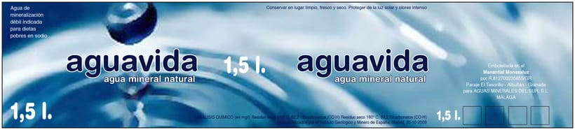 Etiqueta para Agua mineral  1