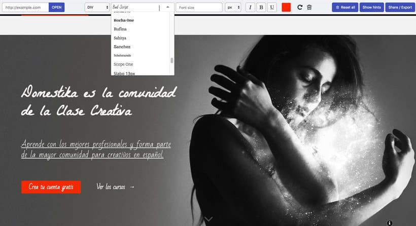 Fonfit: un simulador de tipografías web 5