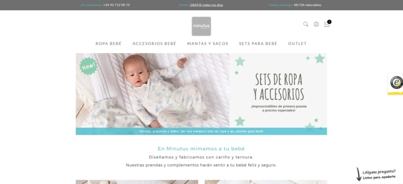Desarrollo de Webshop Minutus & Marketing Online -1