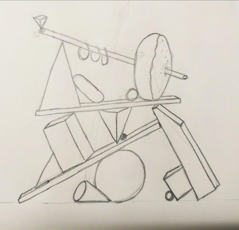 Totem Skollrax, es un proyecto personal como parte de un curso de Cinema4D impartido por el ilustrador Zigor. -1