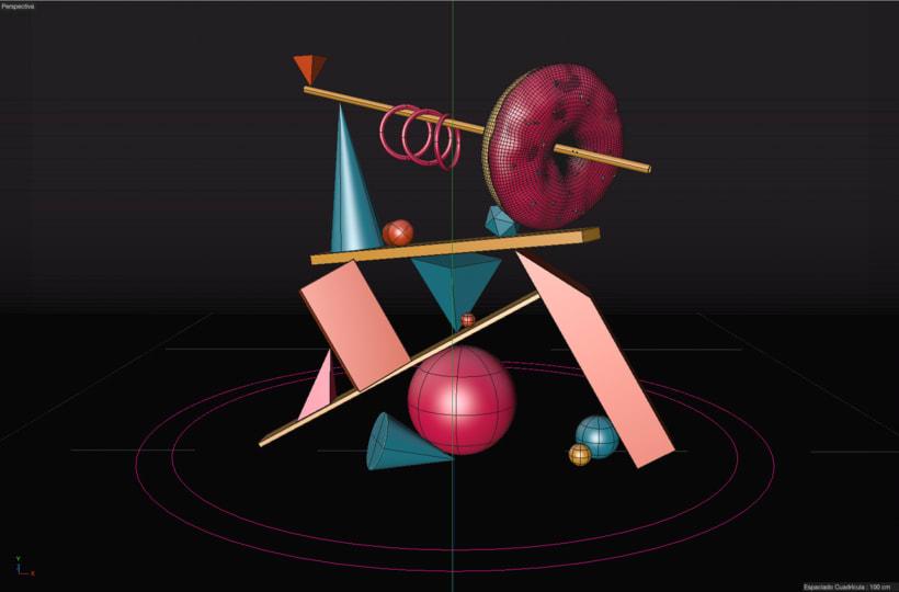 Totem Skollrax, es un proyecto personal como parte de un curso de Cinema4D impartido por el ilustrador Zigor. 2