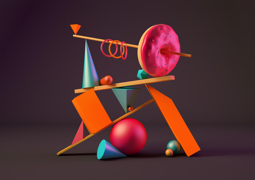 Totem Skollrax, es un proyecto personal como parte de un curso de Cinema4D impartido por el ilustrador Zigor. 7