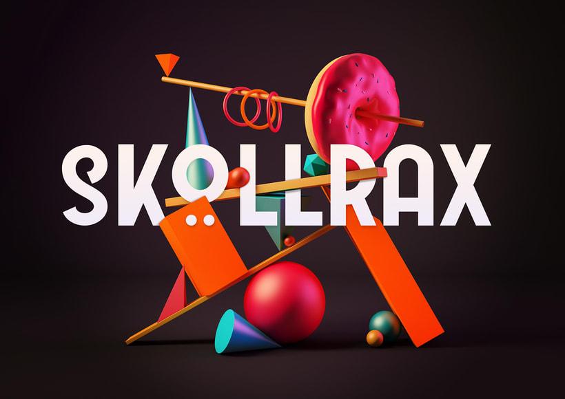 Totem Skollrax, es un proyecto personal como parte de un curso de Cinema4D impartido por el ilustrador Zigor. 8