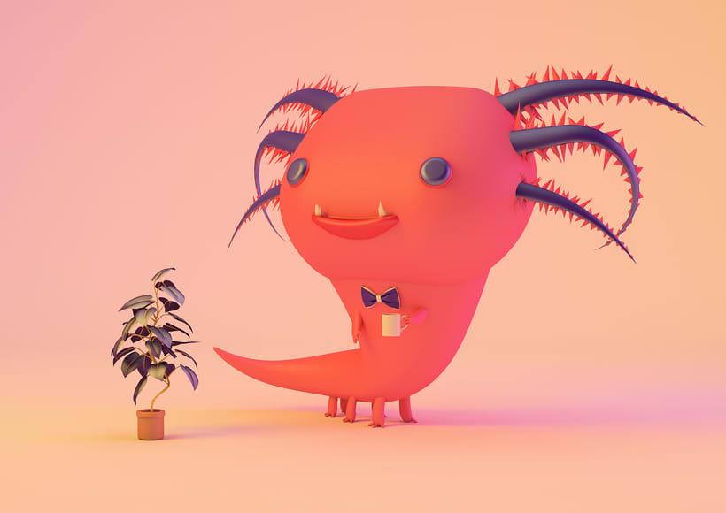 Mascota 3D paso a paso desde el boceto hasta el retoque final, este es un proyecto personal creado para un curso de modelado en cinema4D, impartido por @Zigor (ilustrador 3d). 1