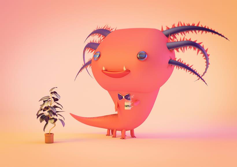 Mascota 3D paso a paso desde el boceto hasta el retoque final, este es un proyecto personal creado para un curso de modelado en cinema4D, impartido por @Zigor (ilustrador 3d). 2