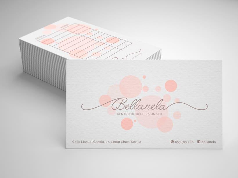 Diseño logotipo: Bellanela Estética Unisex -1