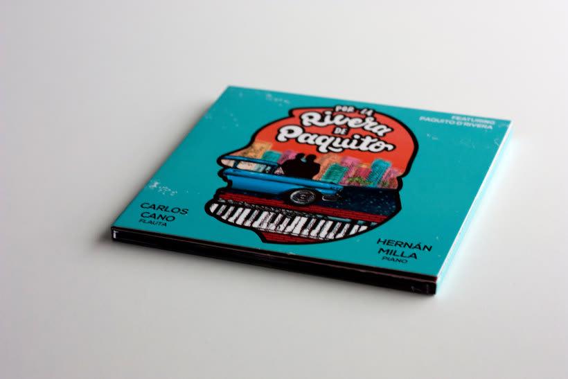 """Ilustración y lettering para el disco """"Por la rivera de Paquito""""  1"""