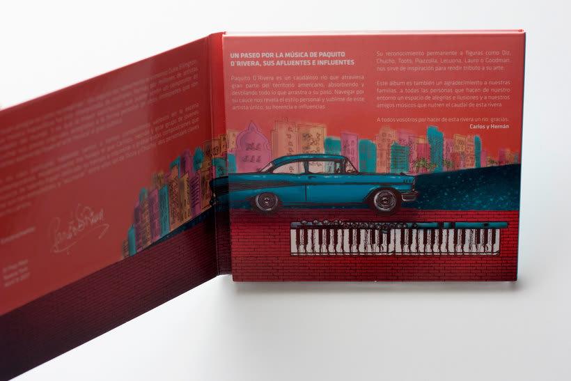 """Ilustración y lettering para el disco """"Por la rivera de Paquito""""  2"""