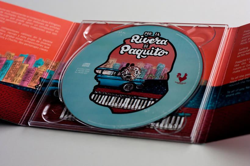 """Ilustración y lettering para el disco """"Por la rivera de Paquito""""  3"""