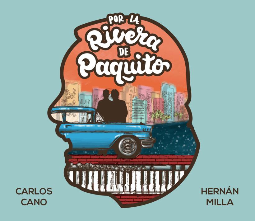"""Ilustración y lettering para el disco """"Por la rivera de Paquito""""  4"""