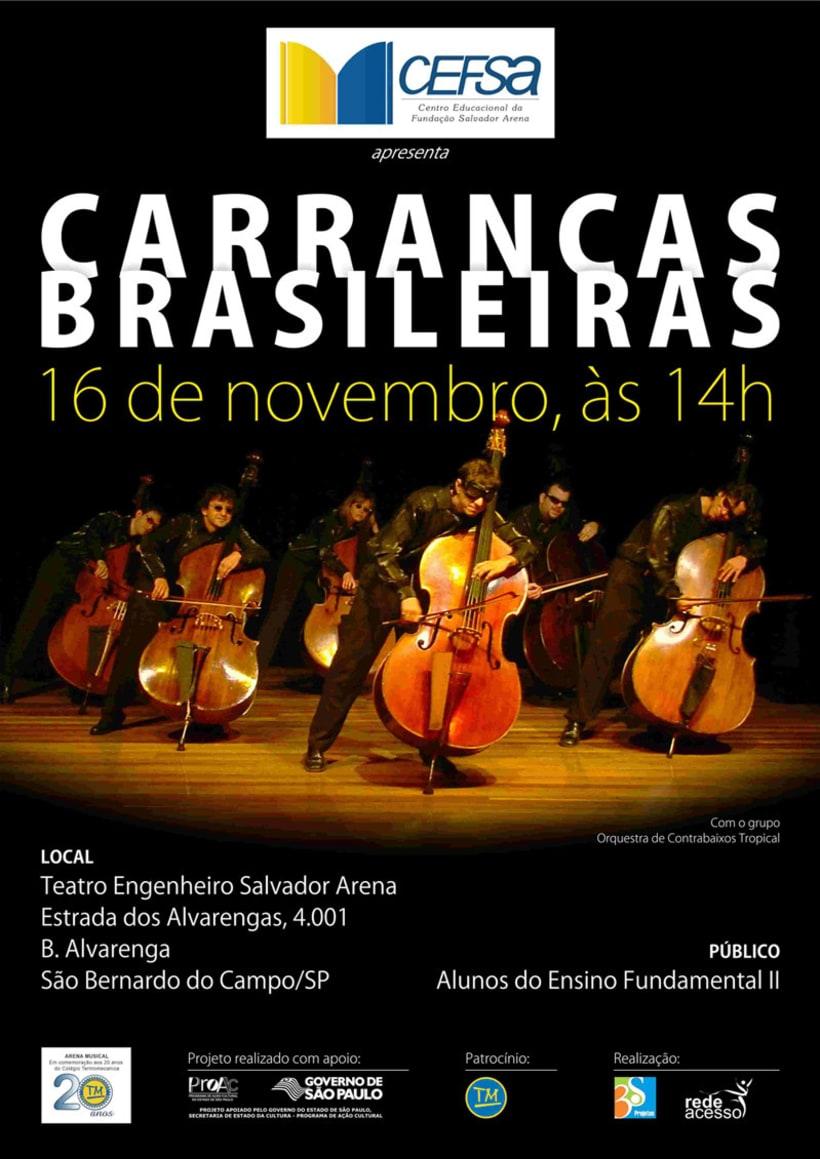 """Poster """"Carrancas Brasileiras"""" -1"""