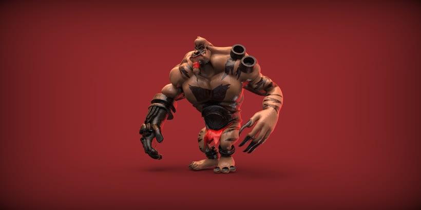 Monster Gorilla - 3D Render 4