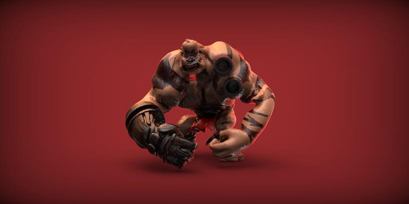Monster Gorilla - 3D Render 5