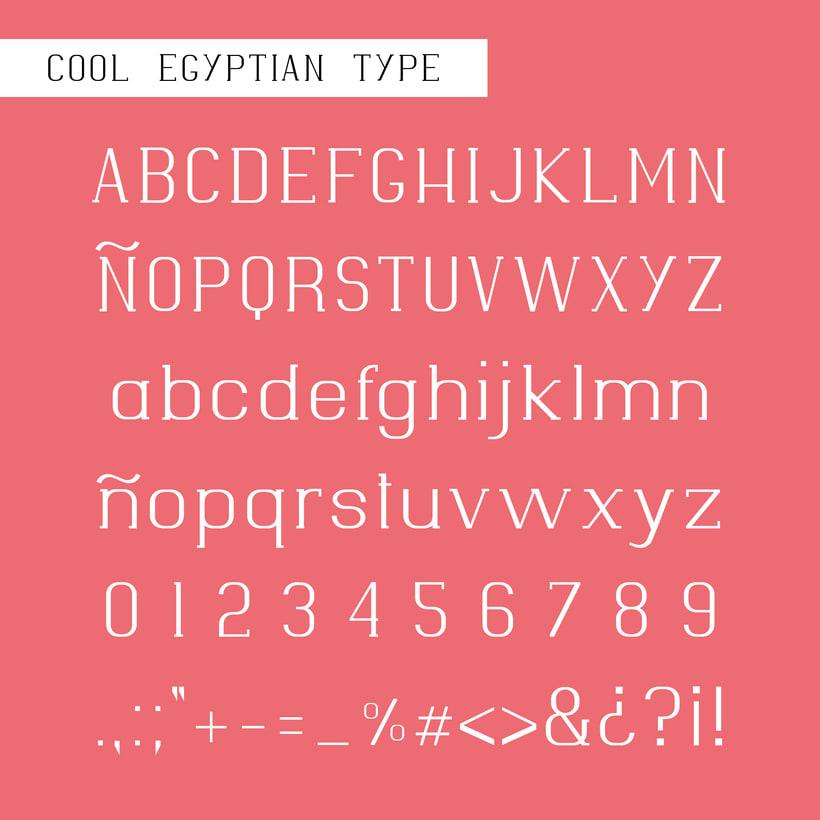 Tipografía Cool Egyptian 1