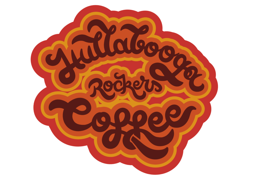 "Lettering ""Hullabooga Rockers Coffee"" 1"
