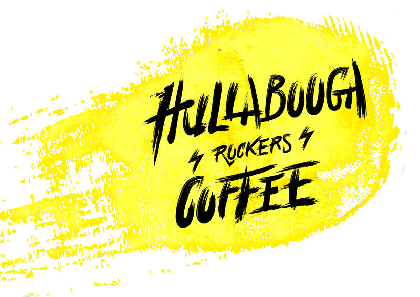 "Lettering ""Hullabooga Rockers Coffee"" 3"