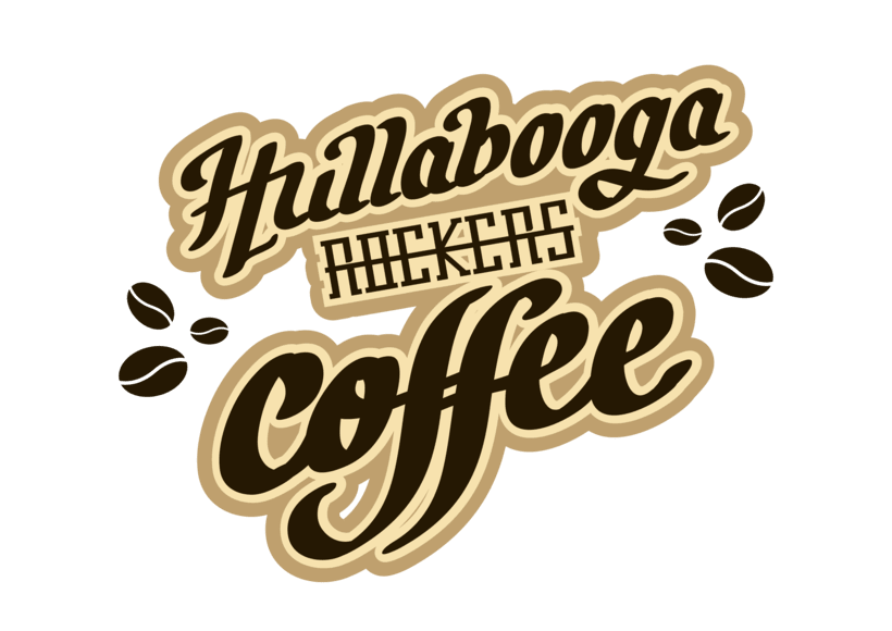 "Lettering ""Hullabooga Rockers Coffee"" 5"