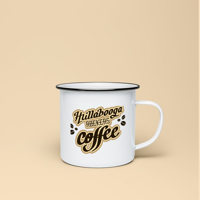 "Lettering ""Hullabooga Rockers Coffee"" 6"