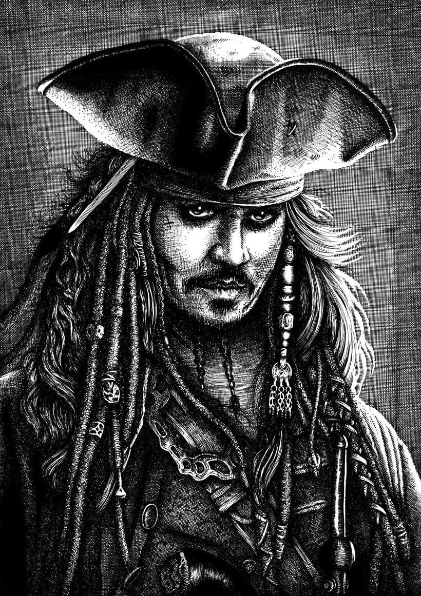 Retrato Jack Sparrow 0