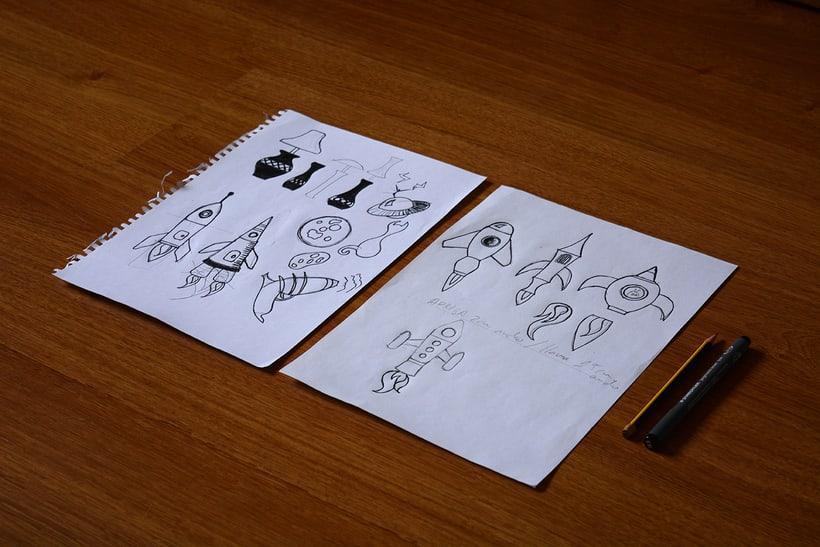 Cohetes: Carvado de sellos y técnicas de estampación 1