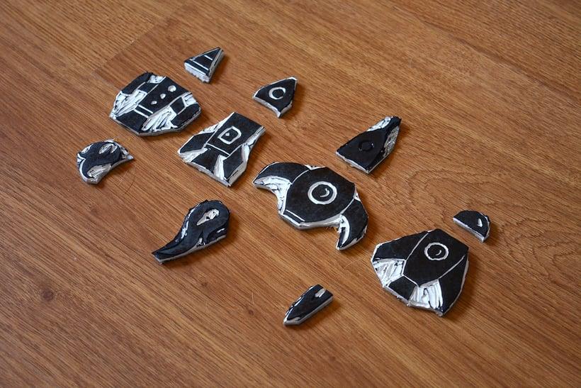 Cohetes: Carvado de sellos y técnicas de estampación 3