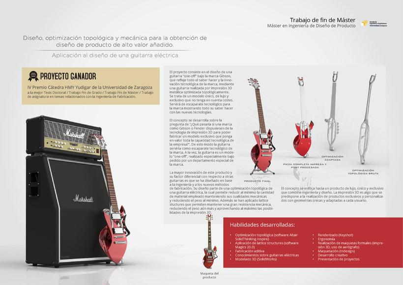 Diseño, optimización topológica y mecánica para la obtención de diseño de producto de alto valor añadido - Aplicación al diseño de una guitarra eléctrica -1