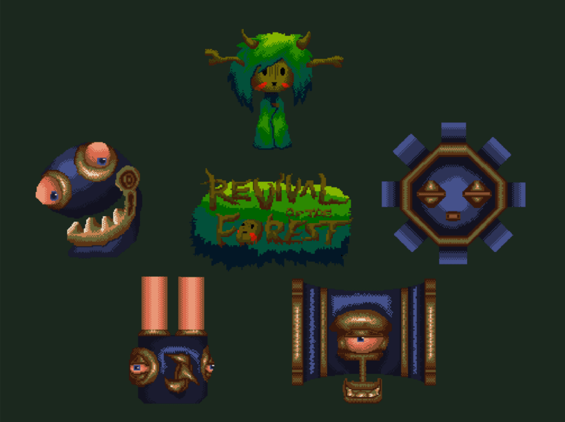Pixel Art - Revival of the Forest - Diseño de personajes. 0