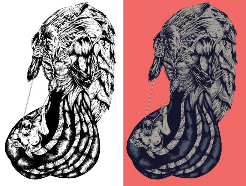 Ilustración - El gordo de los tentáculos. 0