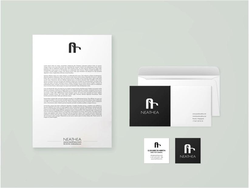 Logotipos, branding, diseño de flyers y de packagings que conforman la empresa NEATHEA (Alba Natura y Bioláctea) 0